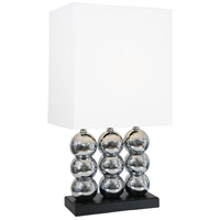 Van Teal 480672 Beautiful World 30 inch 150 watt Chrome and Matte Black Table Lamp Portable Light