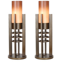 Van Teal 533478PR Plaza 27 inch 90 watt Caramel Table Lamp Portable Light Metropolis Set of 2