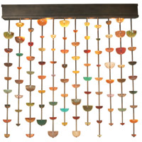 Van Teal 534855 Galaxy 5 Light 72 inch Caramel Wall Light
