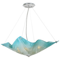 Blue Dawn 4 Light Polished Chrome Chandelier Ceiling Light