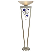 Rolling Cobalt 72 inch 150 watt Silver Jacobean Torchiere Portable Light