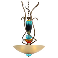 Van Teal 621650 Boswell 3 Light 21 inch Weathered Gold Chandelier Ceiling Light Gypsy