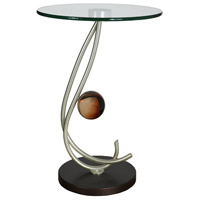 Sophistication 23 inch Copper and Autumn Wood Silver Table Lamp Portable Light