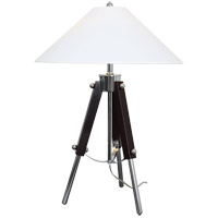 Actor 28 inch 60 watt Chrome and Dark Expresso Table Lamp Portable Light