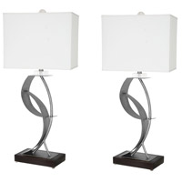 Van Teal 630572PR Lady Clara 33 inch 150 watt Weathered Steel and Matte Black Table Lamp Portable Light You Will Remember Set of 2