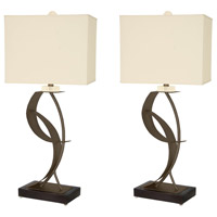 Van Teal 630672PR Lady Eva 33 inch 150 watt Caramel and Matte Black Table Lamp Portable Light You Will Remember Set of 2