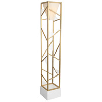 Van Teal 634481 Tower Center 71 inch 150 watt Gold and Feather White Torchiere Floor Lamp Portable Light, Direct Correlation