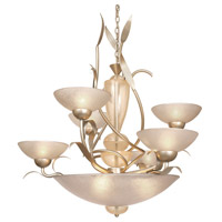 Van Teal 664650 Dominant 9 Light 32 inch Autumn Wood Silver Chandelier Ceiling Light Almost Autumn