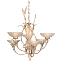 Expectation 6 Light 33 inch Autumn Wood Silver Chandelier Ceiling Light, Almost Autumn