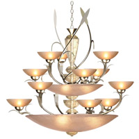 Persuasive 18 Light 46 inch Autumn Wood Silver Chandelier Ceiling Light