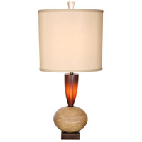 Ring O 33 inch 150 watt Honeycomb and Copper Table Lamp Portable Light, Osiris