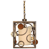 Van Teal 703950 Wheels Of Time 1 Light 10 inch Golden Ocher Chandelier Ceiling Light Free Wheeling