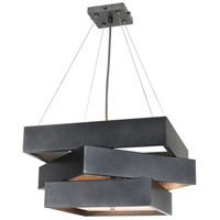 Night Life 4 Light 16 inch Weathered Steel Chandelier Ceiling Light, Nightscape
