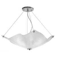 Fantasy 4 Light 30 inch Chrome Chandelier Ceiling Light, Paradise