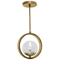 Fremont 1 Light 10 inch Pacific Sunset Gold Pendant Ceiling Light, Direct Correlation