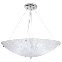 The Way 4 Light 30 inch Chrome Chandelier Ceiling Light, West Side