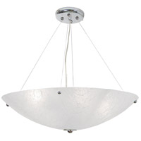 Chilled 4 Light 30 inch Chrome Chandelier Ceiling Light, Frosty