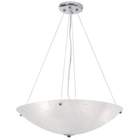 Chilled 4 Light 21 inch Chrome Chandelier Ceiling Light, Frigid