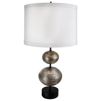 Van Teal 732572 Owen 32 inch 150 watt Antique Silver Leaf Table Lamp Portable Light Ring O