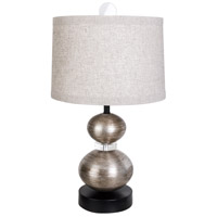 Antique Silver Leaf Table Lamps