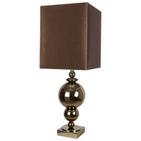 Van Teal 734672 Secret 32 inch 150 watt Antique Silver Leaf and Black Table Lamp Portable Light