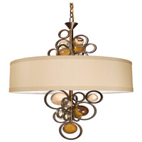 Van Teal 753050 La Folie 6 Light 24 inch Golden Ocher Chandelier Ceiling Light Free Wheeling
