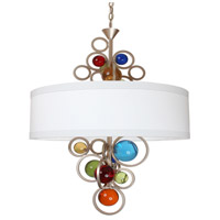 Van Teal 753150 Fiesta 6 Light 24 inch Brilliant Silver Chandelier Ceiling Light Free Wheeling