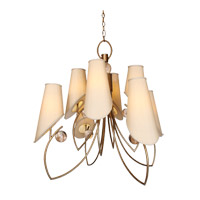 Strategy 8 Light 37 inch Weathered Gold Chandelier Ceiling Light