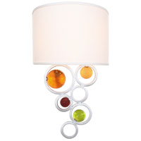 Van Teal 771755 Happy Wheels 2 Light 12 inch Silver Wall Sconce Wall Light Free Wheeling