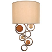 Free Wheeling 2 Light 12 inch Golden Ochre Wall Sconce Wall Light, Fun Wheels