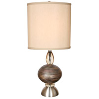 Van Teal 772872 O Neal 31 inch 150 watt Brushed Nickel with Cajun Copper Table Lamp Portable Light, Ring O
