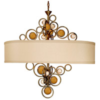Wheels of Flare 6 Light 22 inch Golden Ocher Chandelier Ceiling Light, Free Wheeling