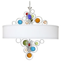 Wheels of Style 6 Light 22 inch Brilliant Silver Chandelier Ceiling Light, Free Wheeling