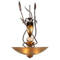 Exceptional Two 3 Light 21 inch Autumn Wood Silver Chandelier Ceiling Light, Almost Autumn