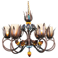Van Teal 800250 D Ana 6 Light 30 inch Copper and Black Chandelier Ceiling Light Dance of Fire