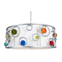 Wheels to Go 3 Light 32 inch Brilliant Silver Chandelier Ceiling Light