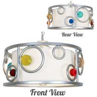 Van Teal 800650 Fast Moving Wheels 3 Light 20 inch Brilliant Silver Chandelier Ceiling Light