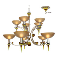 Melissa 10 Light 49 inch Argenta Silver Chandelier Ceiling Light