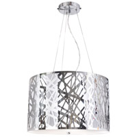 Gallium 3 Light 19 inch Chrome Pendant Ceiling Light, Illusion