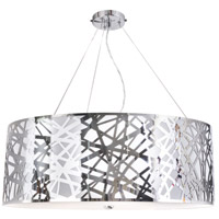 Mirage 6 Light 36 inch Chrome Chandelier Ceiling Light, Illusion
