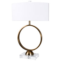 Van Teal 813872 Sunrise 30 inch 100 watt Chrome and Cadet Gray Table Lamp Portable Light Correlation