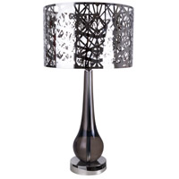 Dreams 36 inch 150 watt Chrome Table Lamp Portable Light, Sparkling Gamma