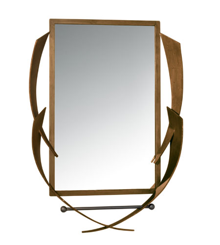 Varaluz Aizen Mirror in Hammered Ore w/ Aspen Bronze Accents 112A01 photo