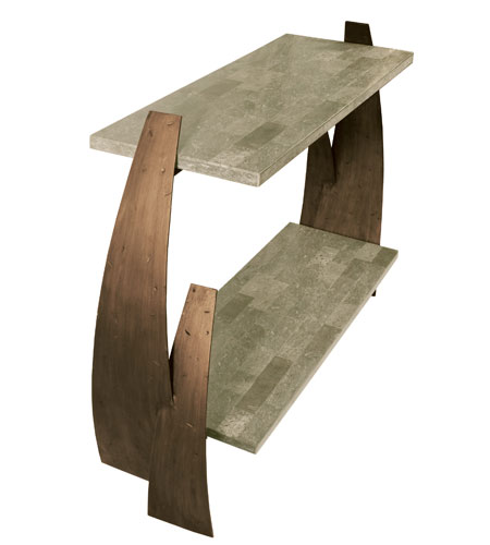 Varaluz Aizen Table in Hammered Ore w/ Aspen Bronze Accents 112A02 photo