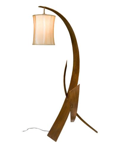 Varaluz Aizen 1 Light Floor Lamp in Hammered Ore w/ Aspen Bronze Accents 112T01X photo