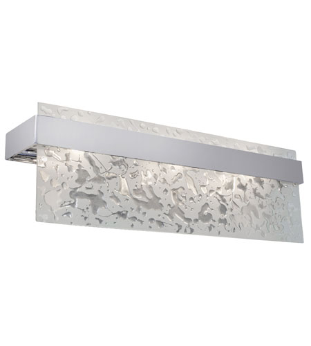 Varaluz Line Up 3 Light Vanity in Artisanal Hand-Worked Chrome 120B03CH photo