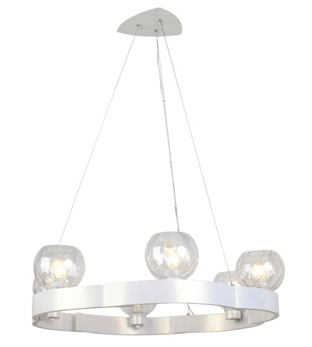 Varaluz Covenant 6 Light Chandelier in Pearl 121C06PE photo