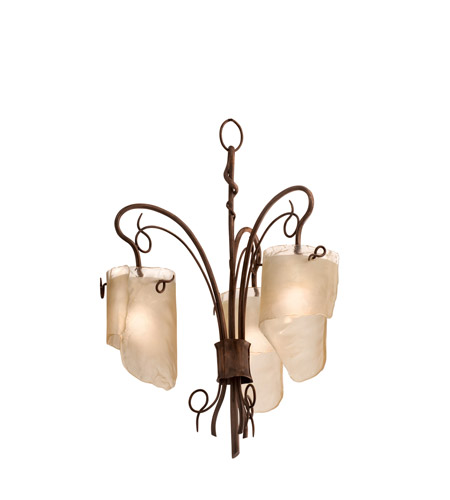 Varaluz 126C03HO Soho 3 Light 26 inch Hammered Ore Chandelier Ceiling Light photo