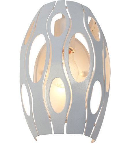 Varaluz Masquerade 1 Light Sconce in Pearl 149W01PE photo