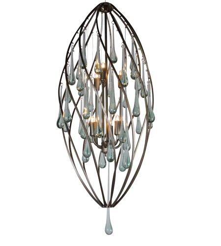 Varaluz Area 51 6 Light Foyer in New Bronze 151F06NB photo